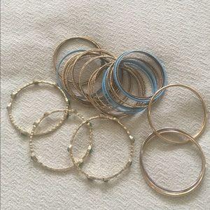 Jewelry - Bunch of bangles bracelets